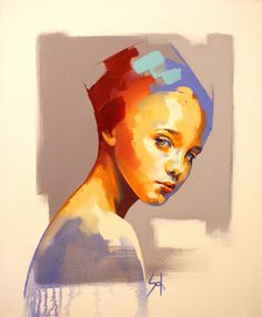 Painting modern portrait artworks 29 ideas for 2019 Abstract Portrait, Watercolor Portraits, Portrait Art, Abstract Art, Abstract Paintings, Academic Drawing, Figurative Kunst, Contemporary Paintings, Contemporary Apartment