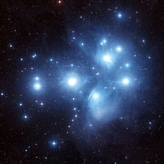 M45 - The Pleiades in Taurus via Oschin Schmidt Telescope on Palomar Mountain.