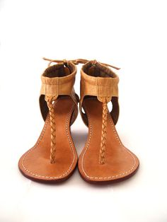 APHRODITE Leather wedge sandals by BaliELF