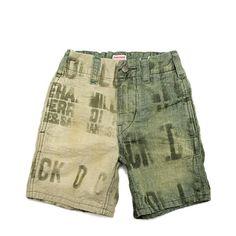 DENIM DUNGAREE(デニム&ダンガリー):ルーズチノ リメイク ショートパンツ 9KHカーキ の通販【ブランド子供服のミリバール】
