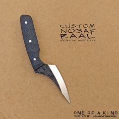 SOLD - Bladetricks One of a kind Nosaf Raal reverse grip knife Knife Tattoo, Best Pocket Knife, Custom Knives, Welding Table, Unique Knives, Cool Knives, Tactical Gear Canada, Sword Design, Forged Knife