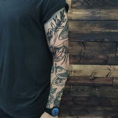Black line tattoo arm