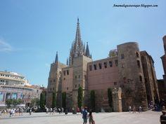 Plaza de la Seu con la catedral de Barcelona.