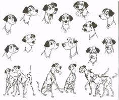 pongo concept sheet ★ || Art of Walt Disney Animation Studios © - Website | (www.disneyanimation.com) • Please support the artists and studios featured here by buying their works from their official online store (www.disneystore.com) • Find more artists at www.facebook.com/CharacterDesignReferences  and www.pinterest.com/characterdesigh || ★