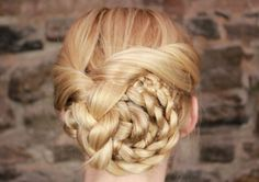 A Braided Updo You Can Do in 10 Minutes or Less