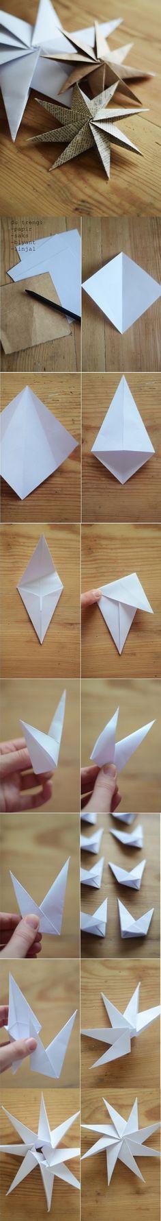 DIY : Paper Star Ornaments