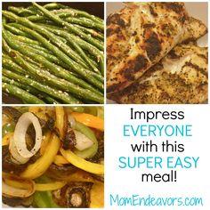 Easy Meal. Lemon Pepper Chicken & veggies
