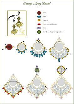 SPRING DRIADA Earrings - FREE Pattern by Gunta on MoonPerl in Lettland. Page 2 of 2