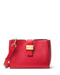 87ddcb62bfcd Bond Medium Leather Messenger Bag. Michael Kors Shoulder ...