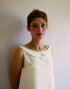 White Lola dress in silk / Amandine Grimm collection