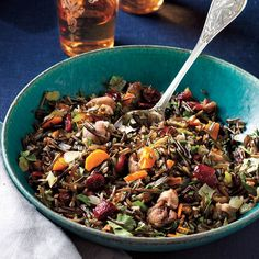 Wild Rice Dressing & Roasted Chestnuts & Cranberries Recipe - 1  | MyRecipes