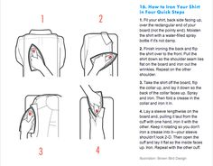 How to iron a shirt in 4 steps