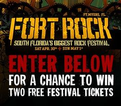 Ft. Myers FL! A chance to win 2 tickets to Fort Rock! @Shinedown #Shinedown Info here: http://ift.tt/268InQw   via Instagram http://ift.tt/1qz39Ir  Shinedown Zach Myers