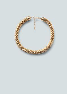 Metallic necklace | MANGO