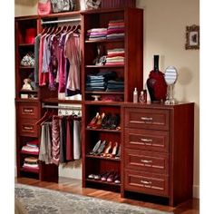 ClosetMaid Impressions 23 In. W X 10 In. H Dark Cherry Deluxe Drawer Kit  For 25 In. W Impressions Tower