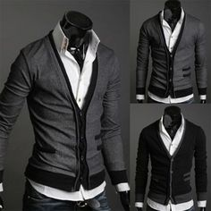 Zogaa Cardigan Men Thin Sweater Coat Casual Men Solid V Neck Pullover Single-breasted Cashmere Cardigan Sweater Slim Pull Homme Men's V Neck Sweaters, Casual Sweaters, Cardigan Sweaters, Thick Sweaters, Cashmere Sweater Men, Men Sweater, Men Cardigan, Cashmere Wool, Pullover Mode