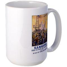 U.S. Marines First To Fight Mug http://www.cafepress.com/historicmugs.971826751