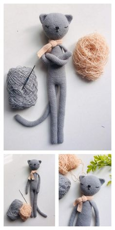 Educational and interesting ideas about amigurumi, crochet tutorials are here. Crochet Bunny Pattern, Crochet Amigurumi Free Patterns, Crochet Animal Patterns, Stuffed Animal Patterns, Cute Crochet, Crochet Crafts, Crochet Dolls, Crochet Projects, Crochet Cat Toys