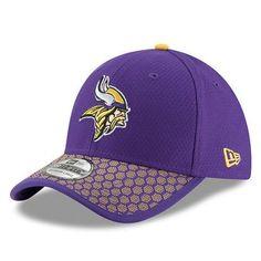 Men s Minnesota Vikings New Era Purple 2017 Sideline Official 39THIRTY Flex  Hat New Era 39thirty 7f19b6fab52d