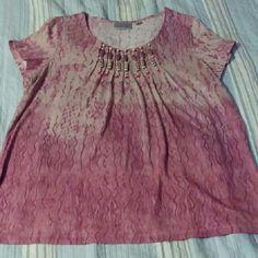 Beaded tribal shirt plus size 18/20 size Avenue Tops Tunics