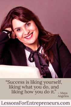 """""""Success is liking yourself, liking what you do, and liking how you do it. Writing A Business Plan, Business Planning, Business Coach, Business Women, Maya Angelou, Growing Your Business, Success Quotes, Case Study, Passion"""