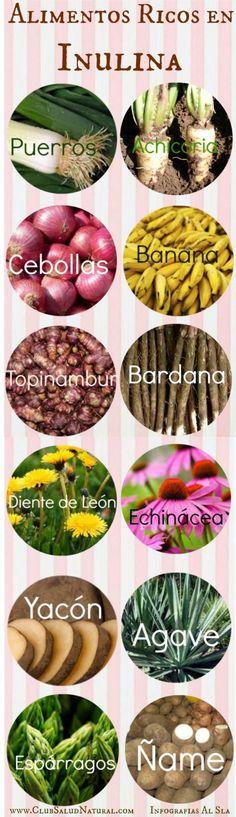 #Inulina y alimentos que la contienen - Club Salud Natural