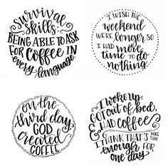 Basic Hand Lettering: Creating Round Designs - Would be an interesting use of lettering for a tattoo... not the actual words here... unless of course you want a tattoo about coffee!