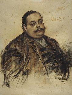 Portrait of Albert Roquer (Ramon Casas y Carbó - ) Spanish Painters, Spanish Artists, Pencil Art Drawings, Realistic Drawings, Figure Drawings, Ramones, Life Drawing, Painting & Drawing, Academic Drawing
