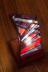 Creative Company | Classy Glass Art: Stacked triangle lamp