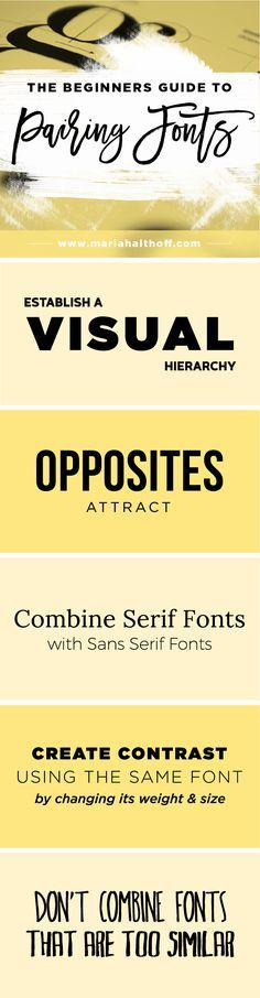 """How to create an impactful font pairing is important for any DIY graphic designers and entrepreneurs. Click through to read the rest of the post, """"How to Choose the Best Font Pairing for your Brand"""" and save this infographic for later!"""