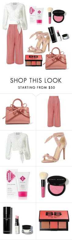 """Untitled #461"" by earthelglowing on Polyvore featuring Mansur Gavriel, TIBI, Alexis, Alexandre Birman and Bobbi Brown Cosmetics"