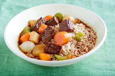 Savoury beef stew is ready to simmer in 10 minutes thanks to frozen vegetables and the flavourful barbecue sauce.