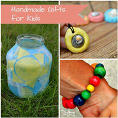 HandmadeGifts for Kids, by Kids. These are great ideas for children's birthday party gifts