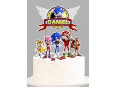 Bolo do sonic redondo Bolo Sonic, Cake Ideas, Decorating Cakes, Kids Part, Creativity