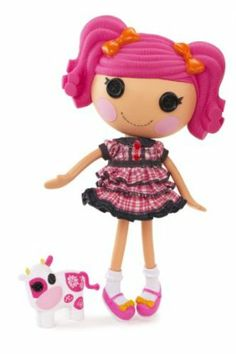 Lalaloopsy Doll - Berry Jars 'N' Jam by MGA Entertainment. $89.00. Includes pet cow. Sewn from pieces of a Farmer's Shirt and Overalls. Shoes and clothes can be removed for fashion play. Articulated head, arms, and legs. She is a hard worker, who's a bit nosy, and makes the tallest stacks of buttermilk pancakes in town. From the Manufacturer                The Lalaloopsy were once rag dolls who magically came to life, taking on the personalities of the fabrics that were use...