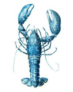 Watercolor Food, Watercolor Animals, Watercolor Print, Watercolor Paintings, Lobster Tattoo, Lobster Art, Folk Art Flowers, Nautical Art, Sea Art