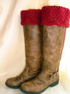 crochet boot toppers - wish now, even more, that i had a pair of boots!!!