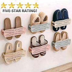 Creative Foldable Wall-mounted Shoe Rack Easy Paste Shoes Storage (Top Quality ) #Doesnotapply