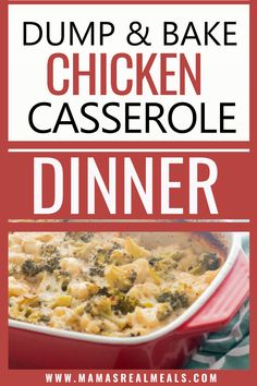 This dump dinner only takes a few minutes to prep! Use frozen broccoli and cauliflower to make this chicken casserole even fast! Healthy Vegetable Recipes, Healthy Vegetables, Good Healthy Recipes, Easy Dinner Recipes, Cauliflower Casserole, Chicken Casserole, Casserole Recipes, Asian Chicken Recipes, Clean Eating Chicken