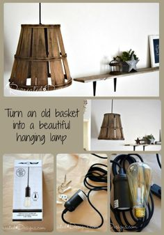 I saw an old washing machine drum made into a hanging lamp. I want one for the laundry room. Think of the patterns of  light it would throw.