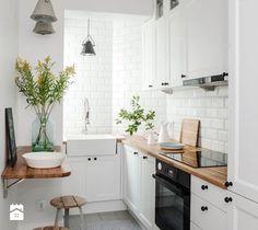 DOLNY MOKOTÓW - Mała zamknięta kuchnia w kształcie litery l, styl skandynawski - zdjęcie od PINKMARTINI