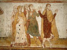 abraham and Lot | Painting of Abraham and Lot Split Apart, St. Savin Abbey, Saint-Savin ...