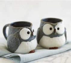VivaTerra - Owl Mugs and Tea Set - VivaTerra..... o my gawsh i want it so bad