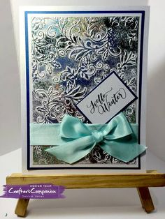 Card made using Sara Signature Winter Wonderland Collection – Created by Debbie James. Fall Cards, Xmas Cards, Diy Cards, Winter Wonderland Christmas, Christmas Trees, Crafters Companion Christmas Cards, Embossed Cards, Signature Collection, Creative Cards