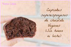 cupcakes chocolate veganos sin huevo sin leche
