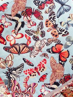 butterfly textile..