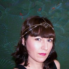 20s head chain  Flapper Headdress  Art by ValkyriesAccesories, €25.00