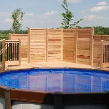 Cheap and easy safty fence around a above ground pool for Club piscine above ground pools prices