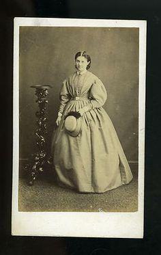 CDV Carte de Visite Victorian Lady with Crinoline Dress Scarborough 1800s | eBay