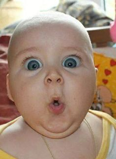 Cute suprised baby